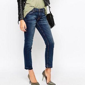 Current Elliot Raw Hem Cropped Jeans